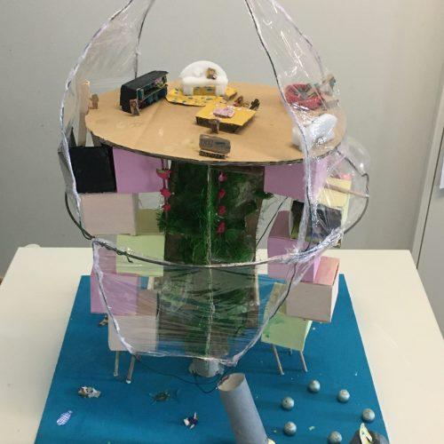 Habiter dans un bulle sous la mer - CE2 / École de l'avenir / 1er Prix ex-aequo