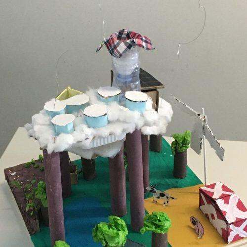 Habiter dans les nuages - CE2 / École de l'avenir / 1er Prix ex-aequo
