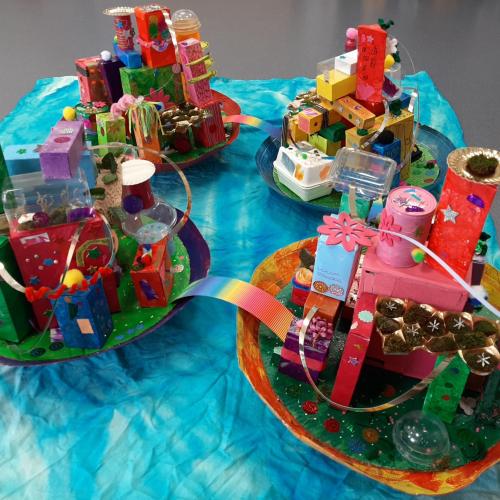 Bullile, la ville sur l'eau - PS&GS / École maternelle d'Aschbach, Aschbach / 1er Prix