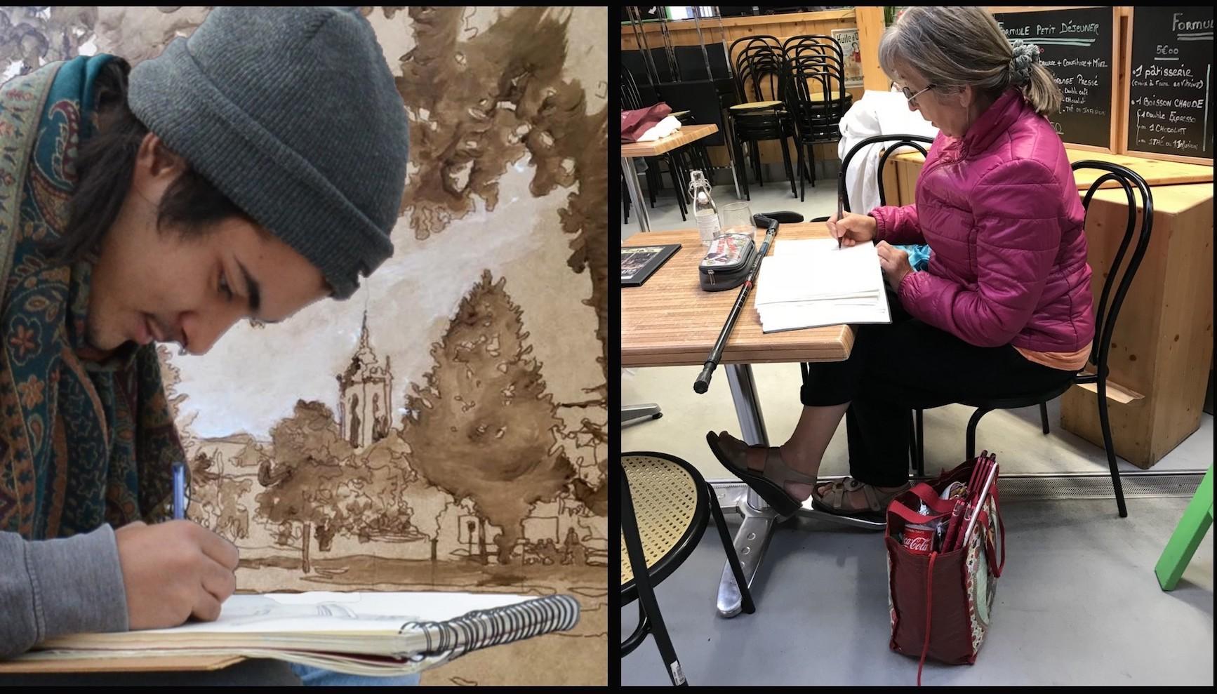 AT 2020: Skizzenworkshop – Zeichne, wovon uns die Wände erzählen