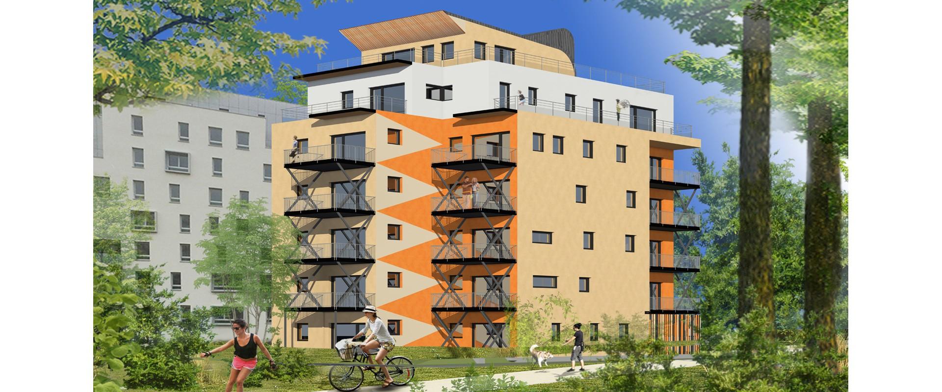 Baustelle des Not'illhus, ein hausgemachtes Mehrfamilienhaus!
